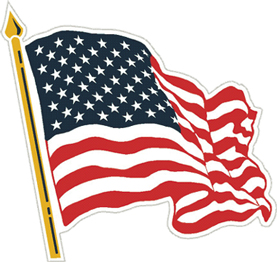 View US USA WAVY AMERICAN FLAG MAGNET