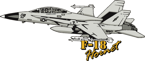 View F-18 HORNET FIGHTER JET MAGNET