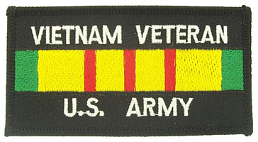 View VIETNAM VETERAN US ARMY SERVICE RIBBON PATCH
