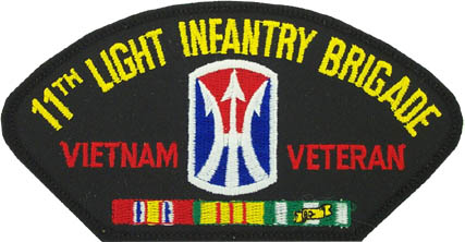 View VIETNAM VETERAN 11TH LIGHT INFANTRY BRIGADE PATCH WITH SERVICE RIBBON
