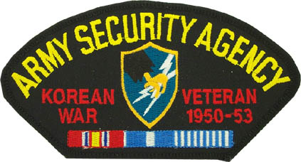 View ARMY SECURITY AGENCY ASA KOREAN WAR VETERAN PATCH WITH SERVICE RIBBON