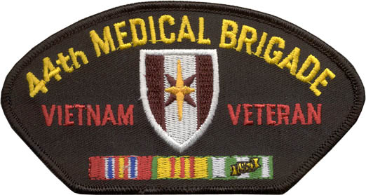 View 44TH MEDICAL BRIGADE VIETNAM VETERAN PATCH WITH SERVICE RIBBON