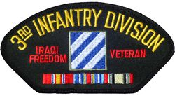 View 3RD ID INFANTRY DIVISION IRAQI FREEDOM VETERAN SERVICE RIBBON PATCH