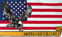 View USA - EAGLE AMERICA LOVE IT OR LEAVE IT FLAG