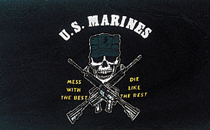View USMC MESS WITH THE BEST FLAG