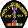 View PURPLE HEART VIETNAM PATCH 1959-1975 WITH SERVICE RIBBON