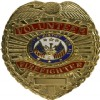 View Shirt Badge Volunteer Firefighter Gold with Blue