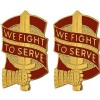 View  US ARMY UNIT CREST DUI 45TH SUPPORT GROUP   WE FIGHT TO SERVE  1-PAIR